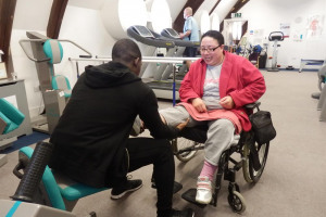 issac-with-client-jackie.jpg - Disabled People Work Hard and Get Fit