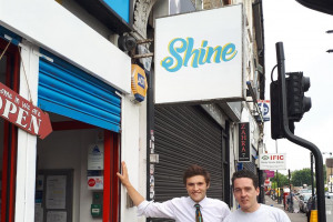 shine-manager-angus-barry-and-shine-officer-kevin-farrell-copy.jpg - Creating the Shine Cafe, Turnpike Lane