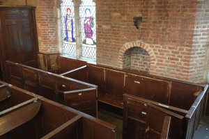 Pews reconstructed in South Aisle1.jpg - A new arts space at St Mary's Old Church