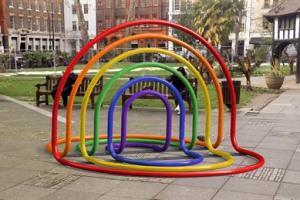 #OHelloSunshine - Soho Rainbow Sculpture