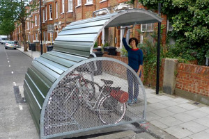 bikehangar-launch-1.jpg - Cycle Storage for Grantham Road Towers