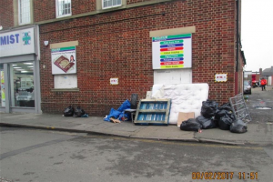 st-josephs-drive-fly-tipping-outside-alley-9-02-2017.jpg - Safer Southall: St Joseph's Drive Alley