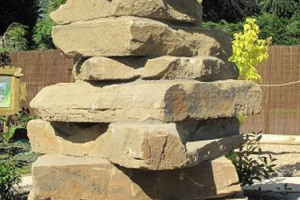 Single Yorkstone Playstack.jpg - Climb Stones at Wicksteed Park!
