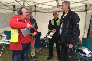 steve-interviewing-with-hands-full.jpg - Live Broadcasting for Red Kite Radio