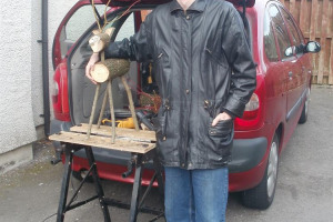kieran-with-reindeer-by-car.jpg - Recycled wood workshop for young homeles