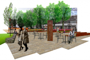 Concept of Roman Gardens (cropped).png - Roman Gardens, Castlefield