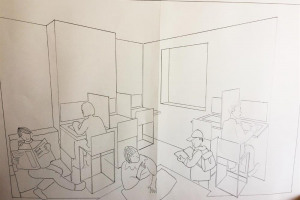 drawing-computer-room.jpg - Computers in the Community Hub