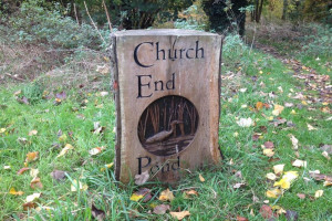 carved-oak-sign.jpg - Oakwood Pond Restoration