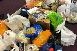 donations-to-sort.jpg - Wyre Forest Foodbank Christmas Special