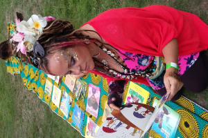 reading-glitter-lady.jpg - Book Love Multicultural Carnival