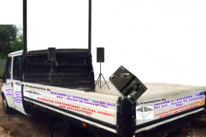 tour-van-side-and-back-view-with-projector-and-projector-screen-and.jpg - One Man Anti – Racism Campaign UK Tour