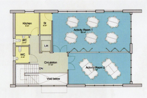 initial-first-floor-plan.jpg - Project Hive - Social Space in Leicester