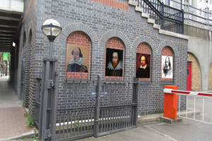 shakespeare on wall.jpg - Imagining Shakespeare's London