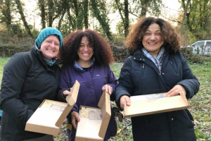 ewg-volunteers-paula-annette-julie-at-boles-meadow-by-sean-mc-cormack.png - Ealing Wildlife Group Nature Reserve