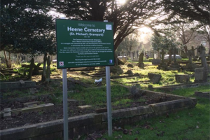Conservation Progress at Heene Cemetery