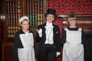 Fiona with maids small.jpg - A Case of History for Wythenshawe Hall