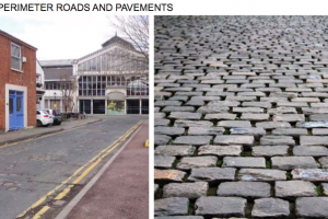 stone street and cobbles.png - Roman Gardens, Castlefield