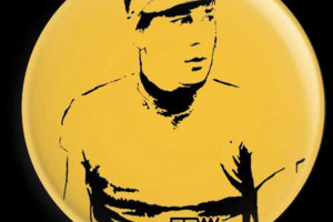 badge.jpg - Joe Orton Statue