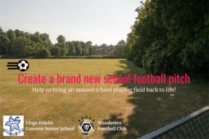 Create a brand new school football pitch