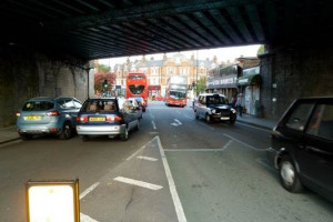 Bridge today 2.jpg - Herne Hill Railway Bridge illumination