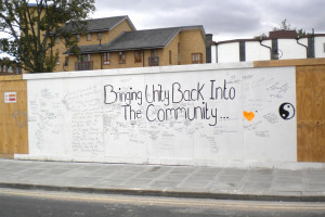 Bringing Unity back to the Community.jpg - After the riots - Happiness in Tottenham