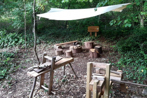 new-tool-area.jpg - Woodland wellbeing centre for Worcester