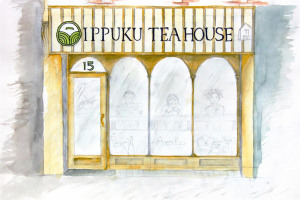 drawing-shop-front.jpg - Japanese Tea House in York