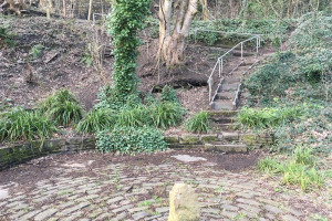 steps-down-to-weir.jpg - Milnsbridge Picnic Benches