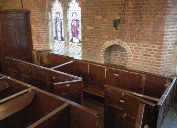 Pews reconstructed in South Aisle1.jpg