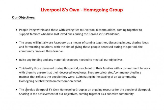 Liverpool 8's Own - Homegoing Group
