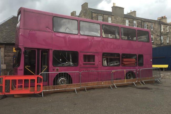 Dalry Primary outdoor learning bus