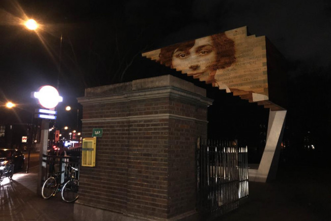 Bethnal Green Memorial Projection