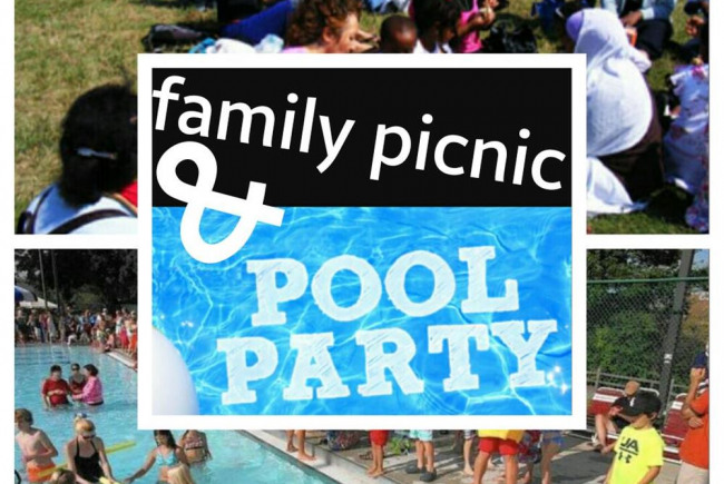 Family picnic and pool party