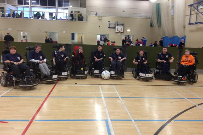 Power wheelchair football Staffordshire