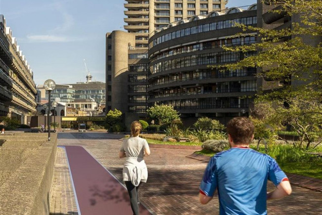A running track in the City
