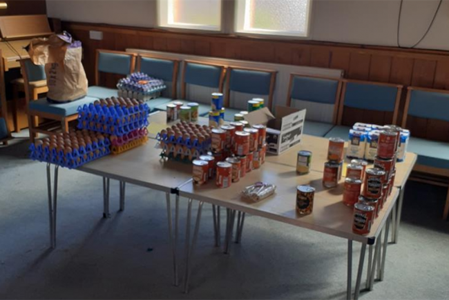 Supporting Tenbury Food Bank