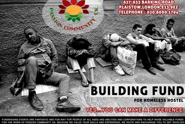 PassionCommunity UK URGENT Building Need