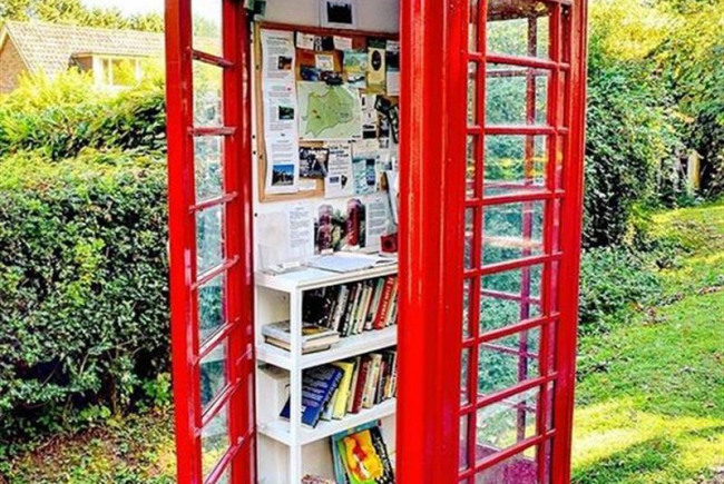 Turn a Phone Kiosk into a free library