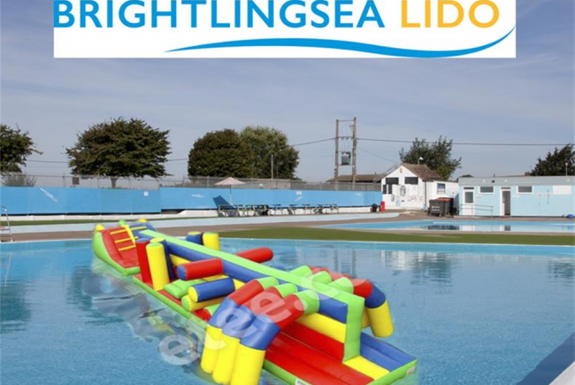 Inflatable Fun at Brightlingsea Lido