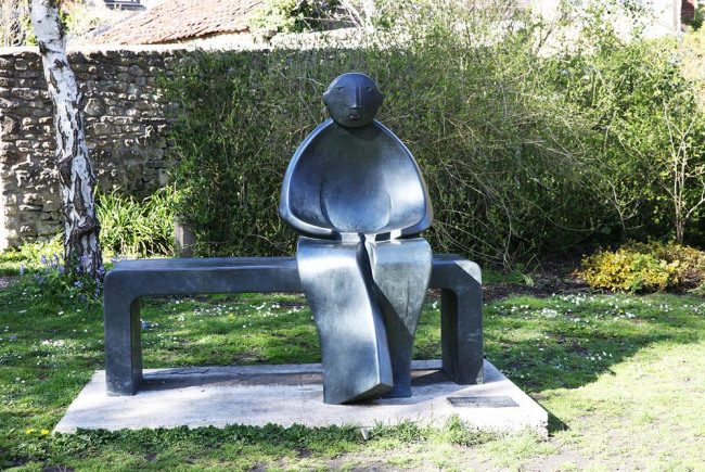 buy a piece of sculpture for the town