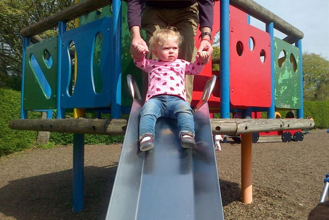 LEVEN SWINGING  PLAY PARK  YOUNG OLD