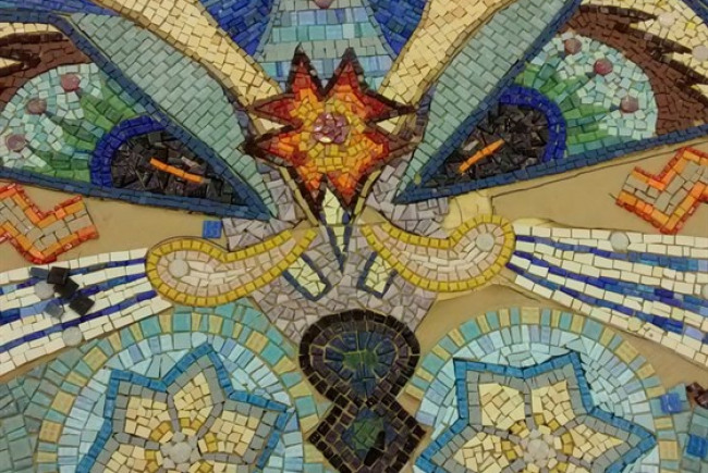The Willesden Green Cat Walk Mosaic