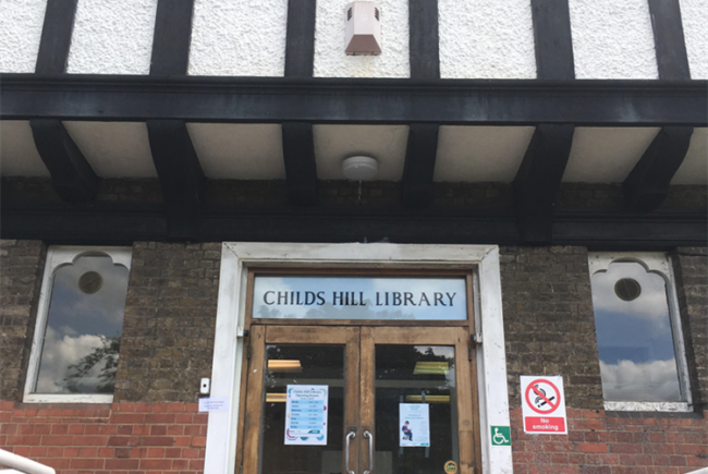 Community space at Childs Hill Library