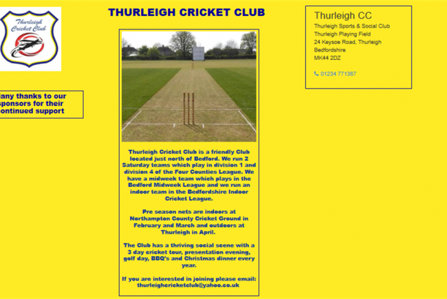 Thurleigh CC COVID-19 Survival Fund
