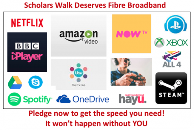 Fibre For Scholars Walk!