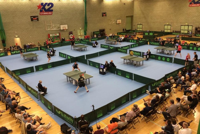 UK Top 8 male Table Tennis invitational